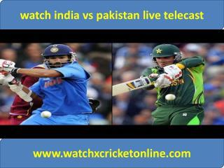 watch pak vs ind live Cricket