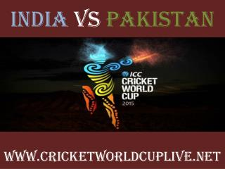 pakistan vs india 15 feb 2015 live cricket Match 4