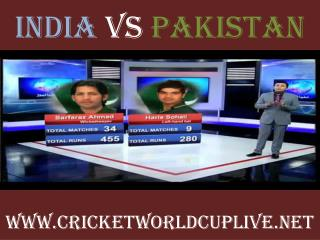 pakistan vs india match will be live telecast on 15 feb 2015