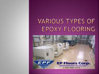 Various Types of Epoxy Flooring