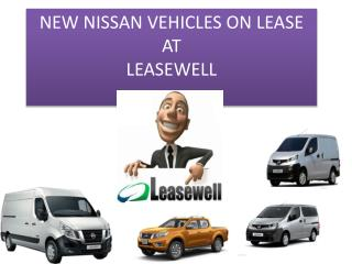 NEW NISSAN VEHICLES ON LEASE AT LEASEWELL