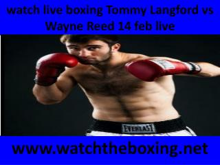 watch live boxing Tommy Langford vs Wayne Reed 14 feb live