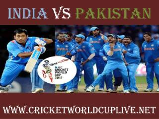 live cricket match pakistan vs india on 15 feb 2015 streamin
