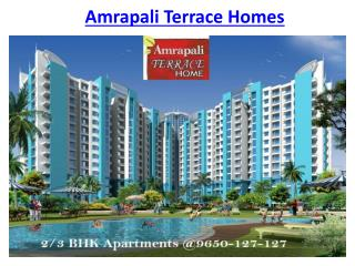Amrapali Terrace Homes Project @9650-127-127 Noida