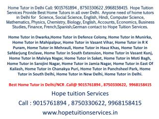 IB Home Tutor in Delhi, Vasant Vihar, Vasant Kunj, Munirka
