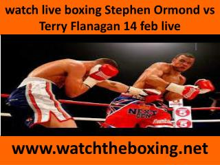 watch live boxing Stephen Ormond vs Terry Flanagan 14 feb li