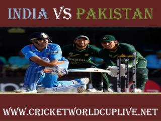 Watch pakistan vs india live cricket