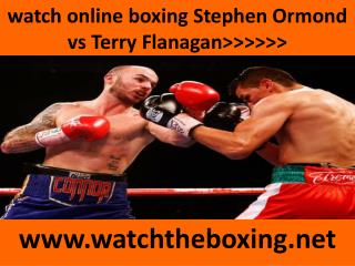 live boxing Terry Flanagan vs Stephen Ormond )))(((