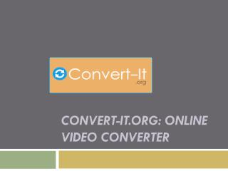 Convert-it.org Online Video Converter