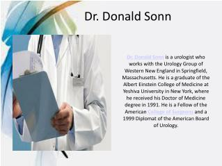 Dr. Donald Sonn