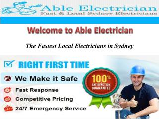Electrician Sydney CBD -  Able Electrician