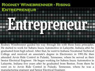 Rodney Winebrenner - Rising Entrepreneur