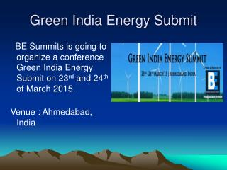 Green India Energy Summit
