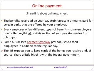Step-By-Step Simple Advice For online payment