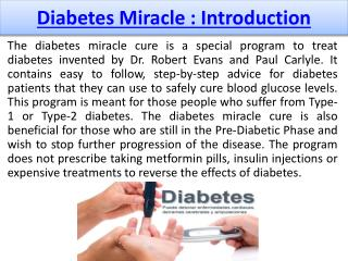 The 30-day Diabetes Miracle - Full Plate Living