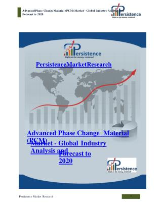 Advanced Phase Change Material (PCM) Market