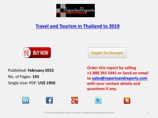 Thailand Travel & Tourism Market to 2019