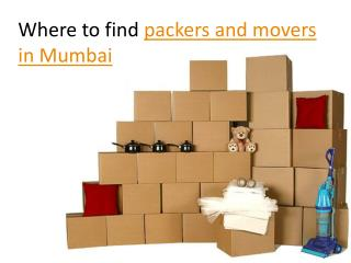 Where to find packers and movers in Mumbai