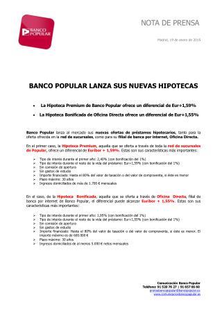 Ángel Ron y el Popular lanzan sus nuevas hipotecas