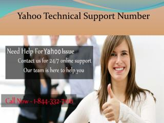 call at 1-844-332-7016 for Yahoo Problem