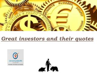 Greatest and Best Investment Quotes