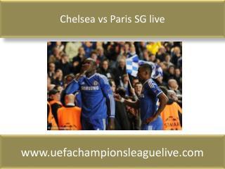 Chelsea vs Paris SG live