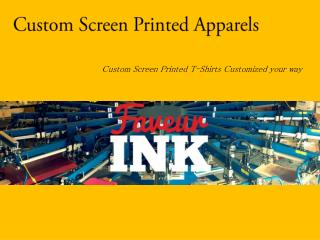 Custom Screen Printed Apparels – FaveurINK