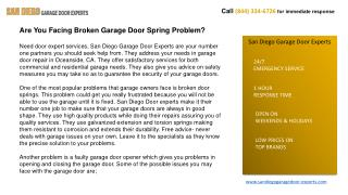 Garage Door Repair & Installation Services in San Diego