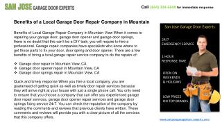 Garage Door Repair & Installation Services in San Jose