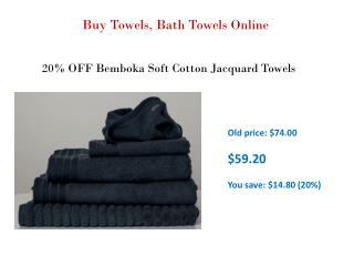 Buy Towels, Bath Towels Online