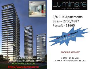 "Mahindra Luminare SEC 59  ""Gurgaon"" Resi-Project Launch"