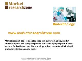 Biotechnology market research reports, Industry analysis
