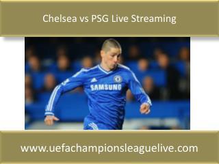 Chelsea vs PSG Live Streaming
