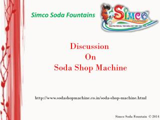 Soda Shop Machine | sodashopmachine.co.in