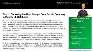 Garage Door Repair, Inspection Services in Tulsa