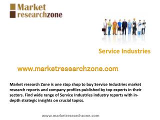 Service Industries market research reports, analysis