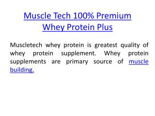 Muscle Tech 100% Premium Whey Protein Plus Online India