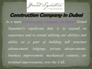 Grand Architect and Interior Designers in Dubai