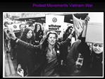 Protest Movements Vietnam War