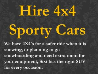 Hire 4x4 Sporty Cars