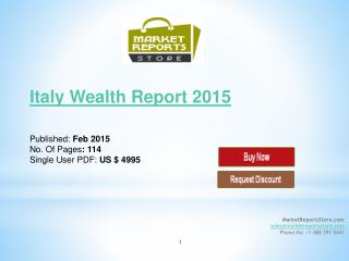 Italy Wealth Management Industry Report 2015
