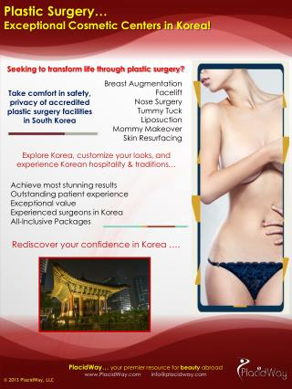 Exceptional Plastic Surgery Centers in Korea