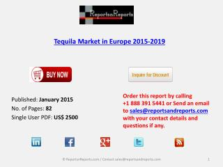 Tequila Market in Europe -Analysis, Trends and Forecasts