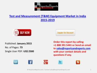 New Report on Test and Measurement (T&M) Equipment Market