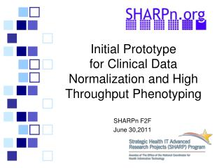 Initial Prototype  for Clinical Data Normalization and High Throughput Phenotyping