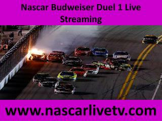 Nascar Budweiser Duel 1 Live Streaming