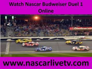 Nascar Budweiser Duel 1 Live Online