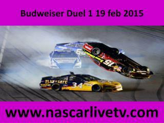 Nascar Budweiser Duel 1 Live Racing