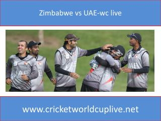 Zimbabwe vs UAE-wc live