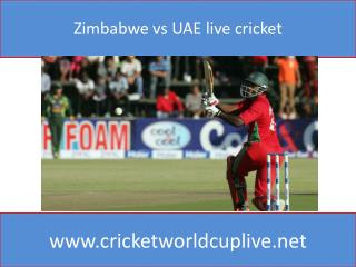 Zimbabwe vs UAE live cricket